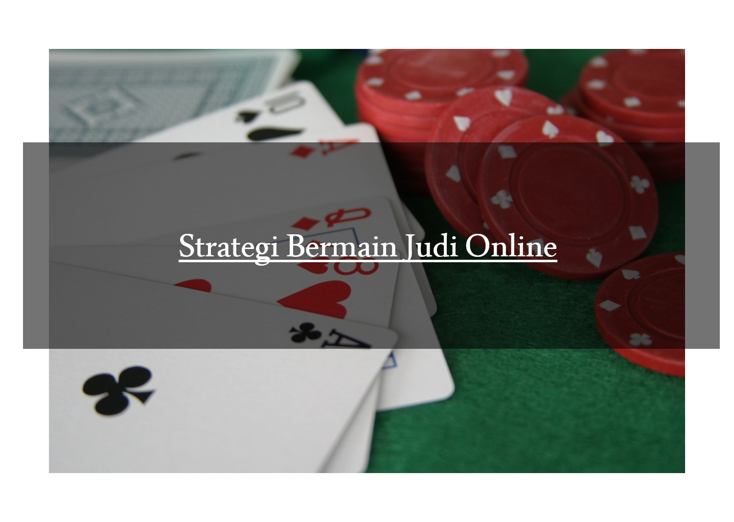 Strategi Main Judi Online Android